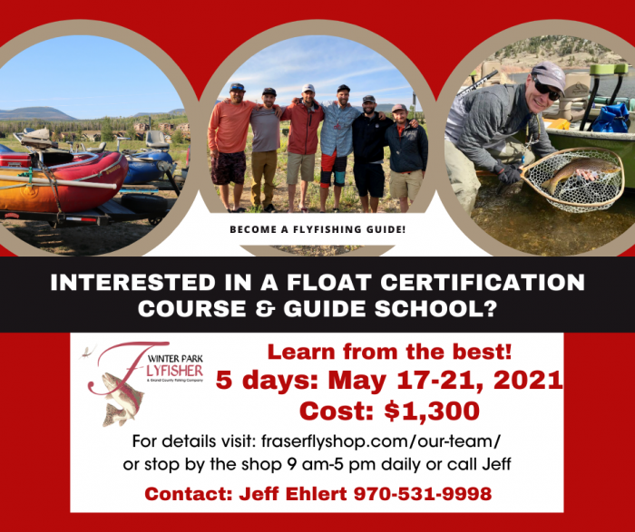 Float certification course and guide school May 17-21, 2021